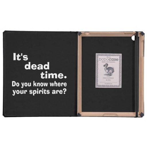 Paranormal Dead Time Public Service Announcement iPad Folio Case