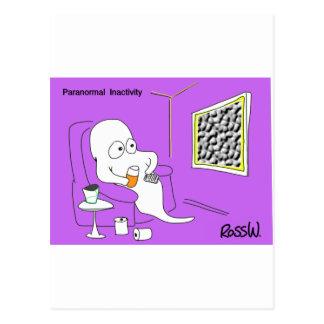 Paranormal inactivity. postcard