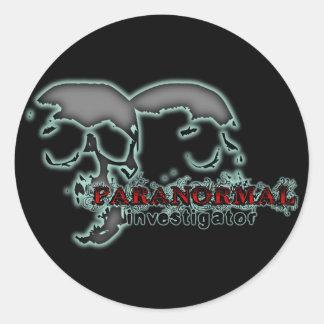 Paranormal Investigator Classic Round Sticker