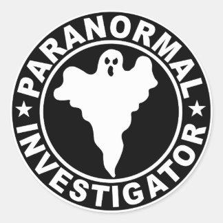Paranormal Investigator Logo Decal Round Sticker
