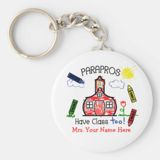 Parapros Have Class Too! Crayons & Schoolhouse Key Ring