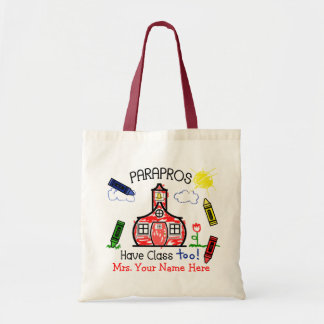 Parapros Have Class Too! Schoolhouse & Crayons Tote Bag