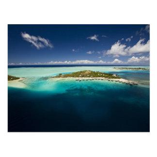 Parasailing over the beautiful lagoon of Bora 3 Postcard