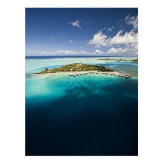 Parasailing over the beautiful lagoon of Bora Postcard
