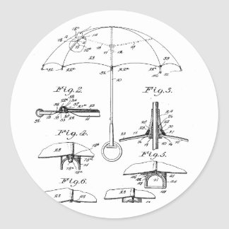 Parasol - Beulah Louise Henry, Inventor Classic Round Sticker