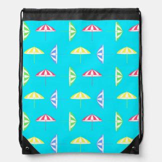 Parasol pattern drawstring bag