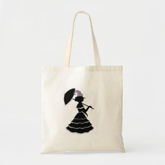 Parasol silhouette tote budget tote bag