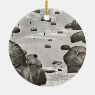 Paratrooper Landing Ceramic Ornament