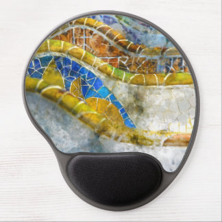 Parc Guell Bench Mosaics in Barcelona Spain Gel Mouse Pad