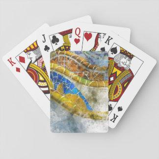 Parc Guell Bench Mosaics in Barcelona Spain Poker Deck