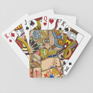 Parc Guell Ceramic Tile in Barcelona Spain Playing Cards