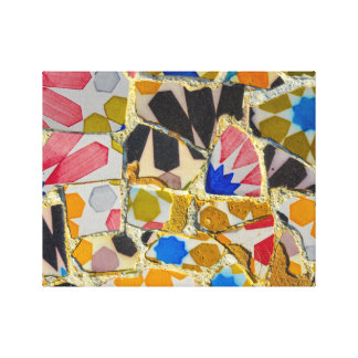 Parc Guell Ceramic Tiles in Barcelona Spain Canvas Print