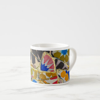 Parc Guell Ceramic Tiles in Barcelona Spain Espresso Cup