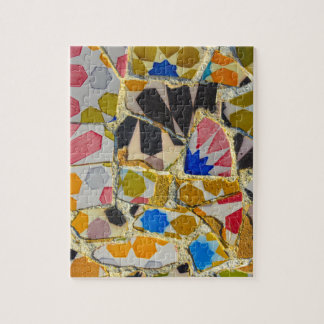 Parc Guell Ceramic Tiles in Barcelona Spain Jigsaw Puzzle