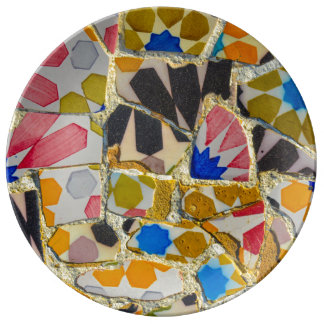Parc Guell Ceramic Tiles in Barcelona Spain Plate
