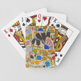 Parc Guell Ceramic Tiles in Barcelona Spain Playing Cards