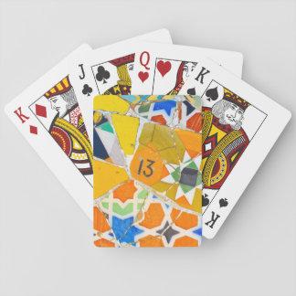 Parc Guell Ceramic Tiles in Barcelona Spain Poker Deck