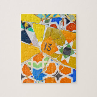 Parc Guell Ceramic Tiles in Barcelona Spain Puzzles
