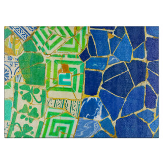 Parc Guell Green Tiles in Barcelona Spain Cutting Board