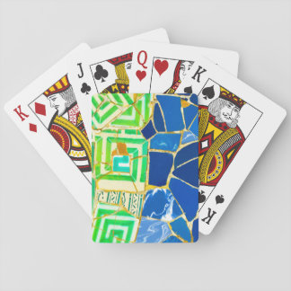 Parc Guell Green Tiles in Barcelona Spain Playing Cards