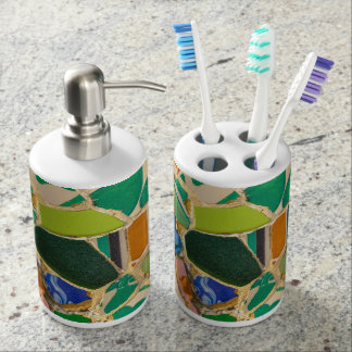 Parc Guell in Barcelona Spain Bath Sets