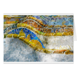 Parc Guell in Barcelona Spain Card