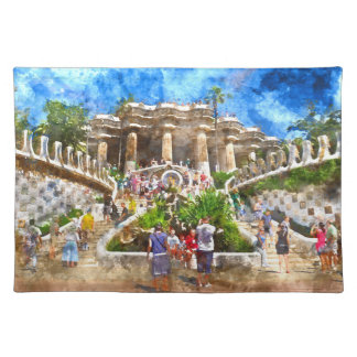 Parc Guell in Barcelona Spain Place Mat