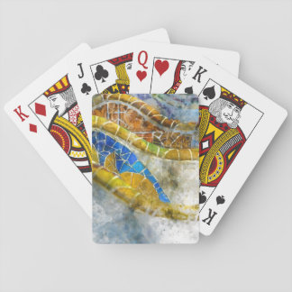 Parc Guell in Barcelona Spain Poker Deck