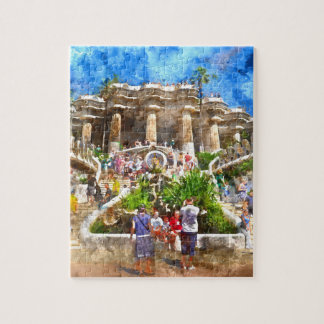Parc Guell in Barcelona Spain Puzzle