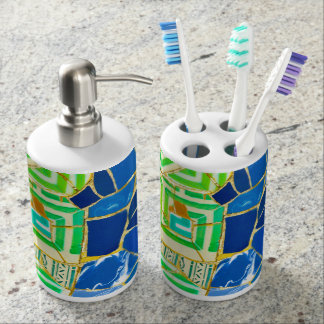 Parc Guell in Barcelona Spain Soap Dispensers
