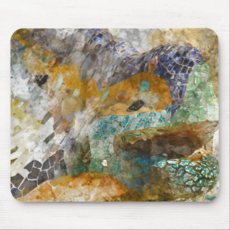 Parc Guell Lizard in Barcelona Spain Mouse Pad