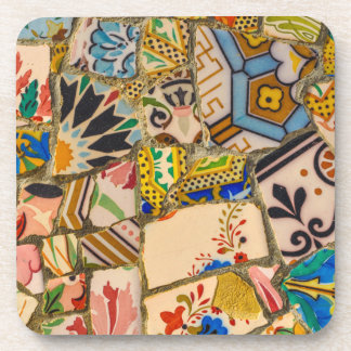 Parc Guell Tiles in Barcelona Spain Coaster