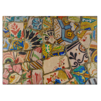 Parc Guell Tiles in Barcelona Spain Cutting Board