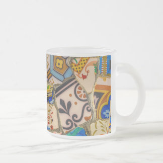 Parc Guell Tiles in Barcelona Spain Frosted Glass Coffee Mug