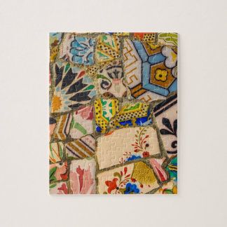 Parc Guell Tiles in Barcelona Spain Jigsaw Puzzle