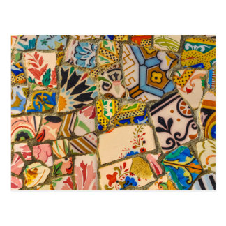 Parc Guell Tiles in Barcelona Spain Postcard