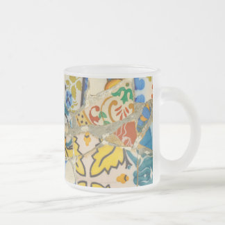 Parc Guell Yellow Ceramic Tiles in Barcelona Spain Frosted Glass Coffee Mug