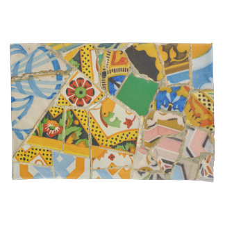 Parc Guell Yellow Ceramic Tiles in Barcelona Spain Pillowcase