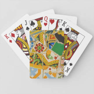 Parc Guell Yellow Ceramic Tiles in Barcelona Spain Playing Cards