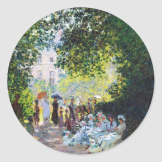 Parc Monceau Claude Monet painting Round Stickers