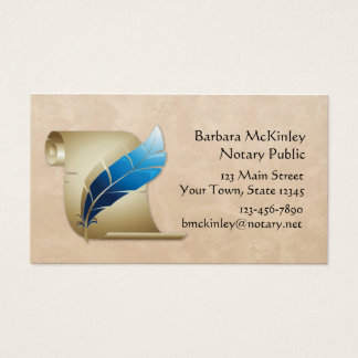 Parchment and Quill Business Card