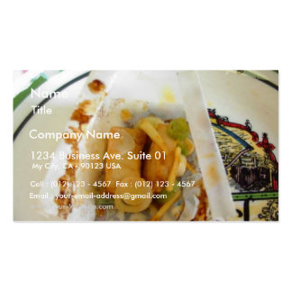 Parchment Baked Tuna Business Card Template