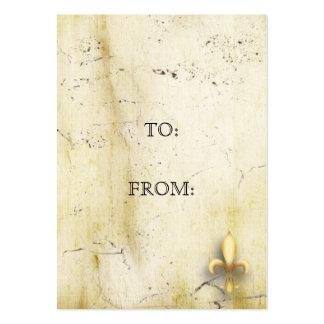 Parchment Fleur-de-Lys Pack Of Chubby Business Cards