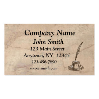 Parchment Inkwell Business Card
