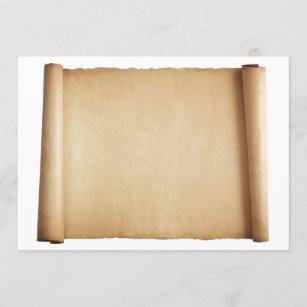 Parchment invitation