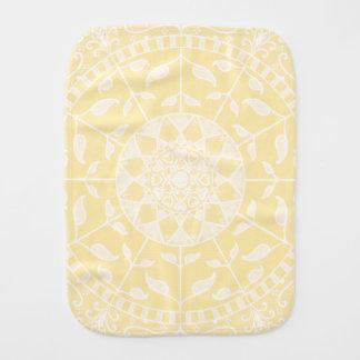 Parchment Mandala Burp Cloth