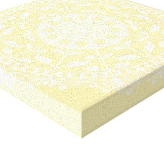 Parchment Mandala Canvas Print