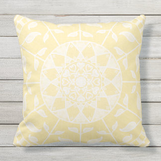 Parchment Mandala Outdoor Cushion