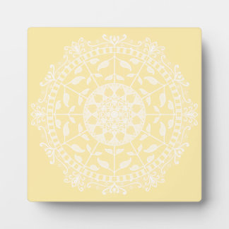 Parchment Mandala Plaque