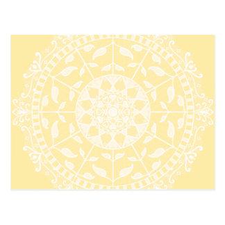 Parchment Mandala Postcard
